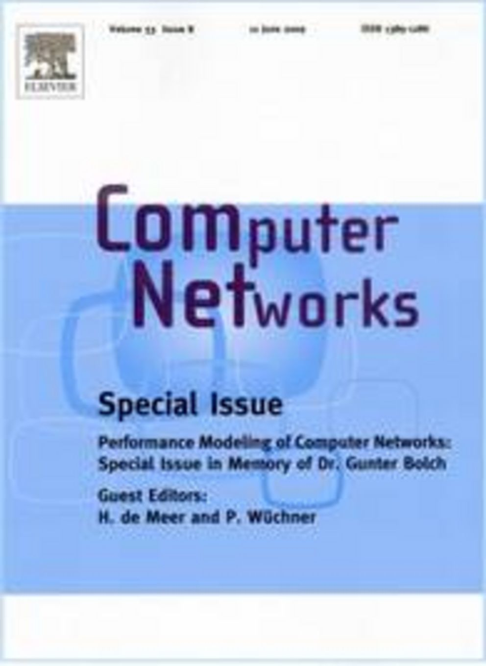 Computer Networks, Special Issue: Performance Modeling of Computer Networks