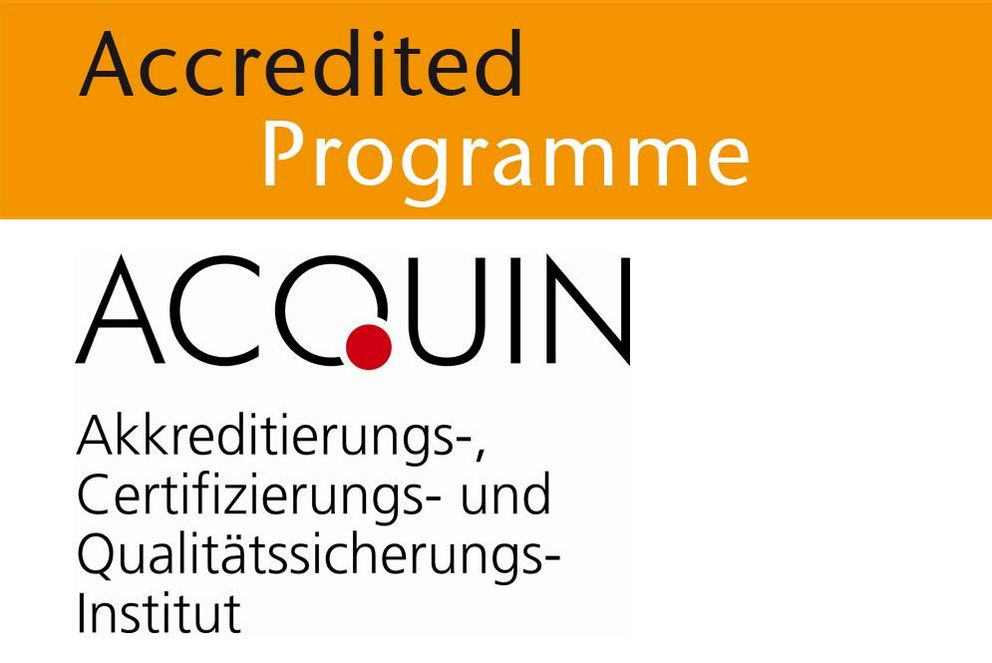 Degree programme accredited by ACQUIN
