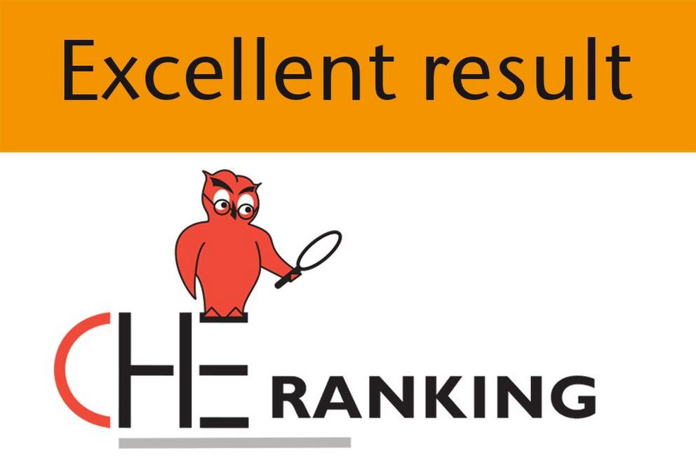 The faculty was in the top group in the CHE University Rankings